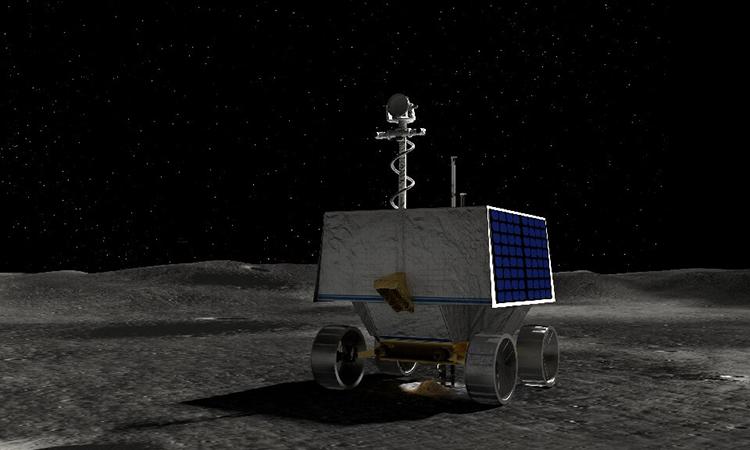 Mô phỏng robot VIPER hoạt động trên bề mặt Mặt Trăng. Ảnh: NASA