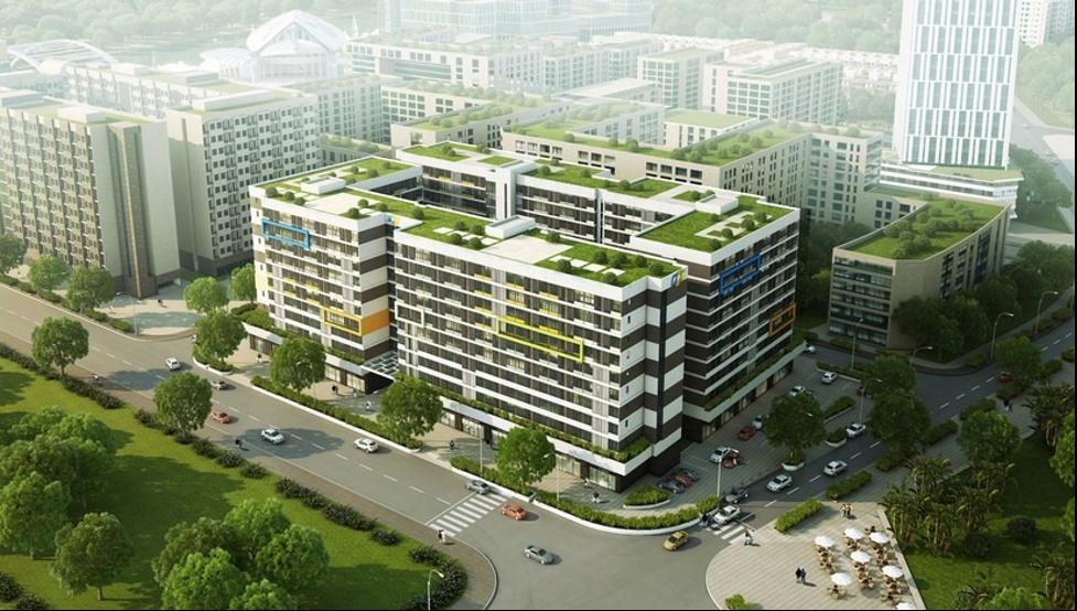 Phối cảnh một phân khu trong dự án Khu đô thị FPT Smart City (Đà Nẵng), nơi tập đoàn FPT dự kiến xây dựng trường nội trú cho các em nhỏ mất cha mẹ vì đại dịch Covid-19. Ảnh: FPT.