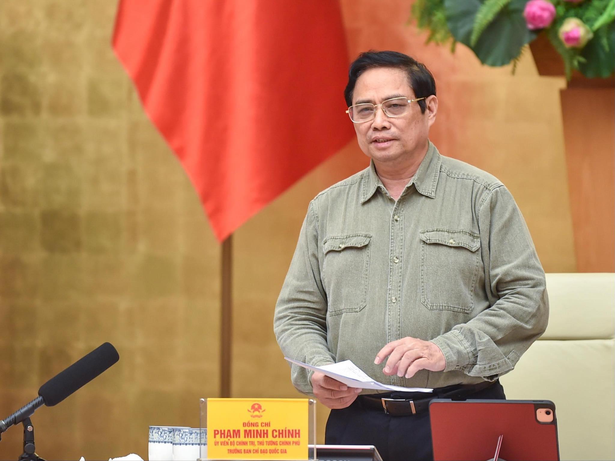 Thủ tướng Phạm Minh Chính chủ trì họp Ban chỉ đạo quốc gia phòng chống Covid-19, sáng 23/9. Ảnh: Nhật Bắc
