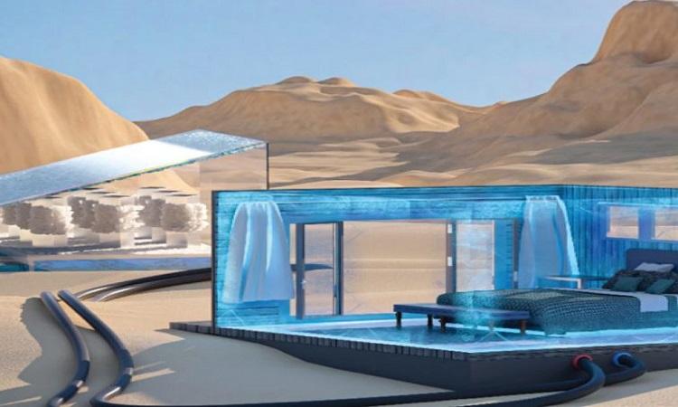 Phiên bản quy mô lớn của hệ thống có thể làm mát cả căn phòng. Ảnh: Wenbin Wang/KAUST