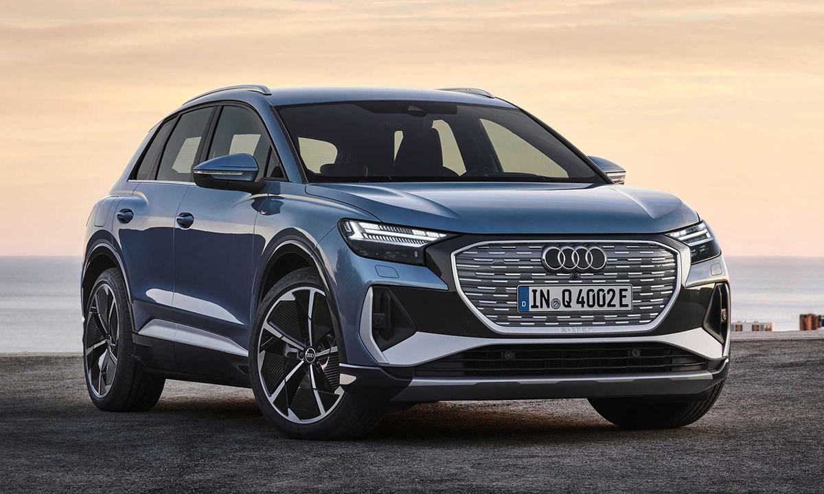 Crossover chạy điện - Q4 e-tron ra mắt tại Mỹ. Ảnh: Audi