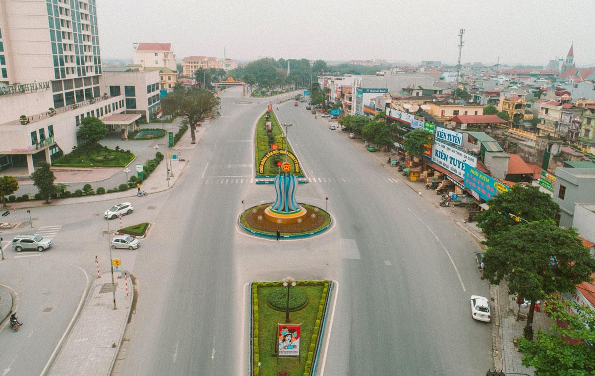 Khu vực trung tâm TP Phủ Lý, tỉnh Hà Nam. Ảnh: Đức Huy