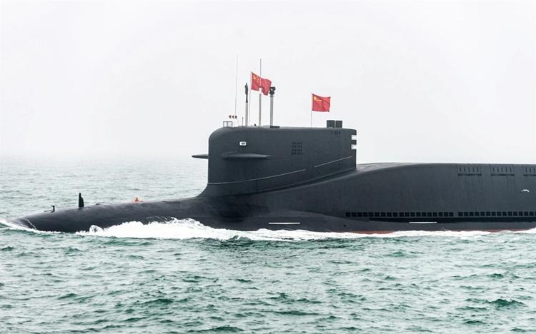 Một tàu ngầm mang tên lửa đạn đạo lớp Jin Type 094B của Trung Quốc. Ảnh: TASS.