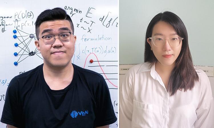 Nguyễn Thành Thông và Lữ Ngọc Thiên Chúc. Ảnh: NVCC
