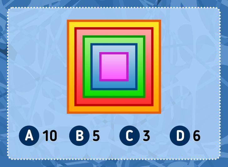 Bạn nhìn thấy bao nhiêu hình vuông?