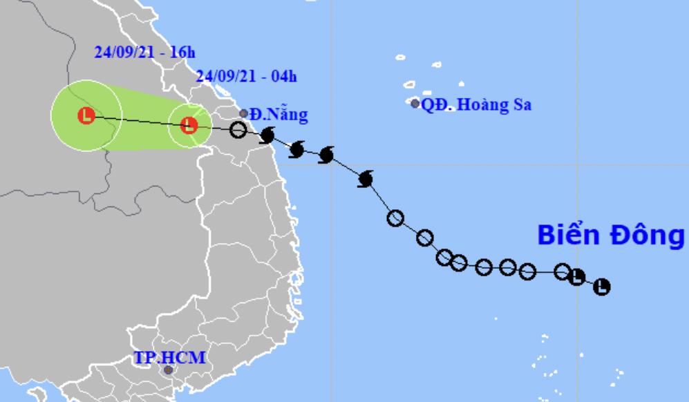 Bão Dianmu đã suy yếu thành một vùng áp thấp.