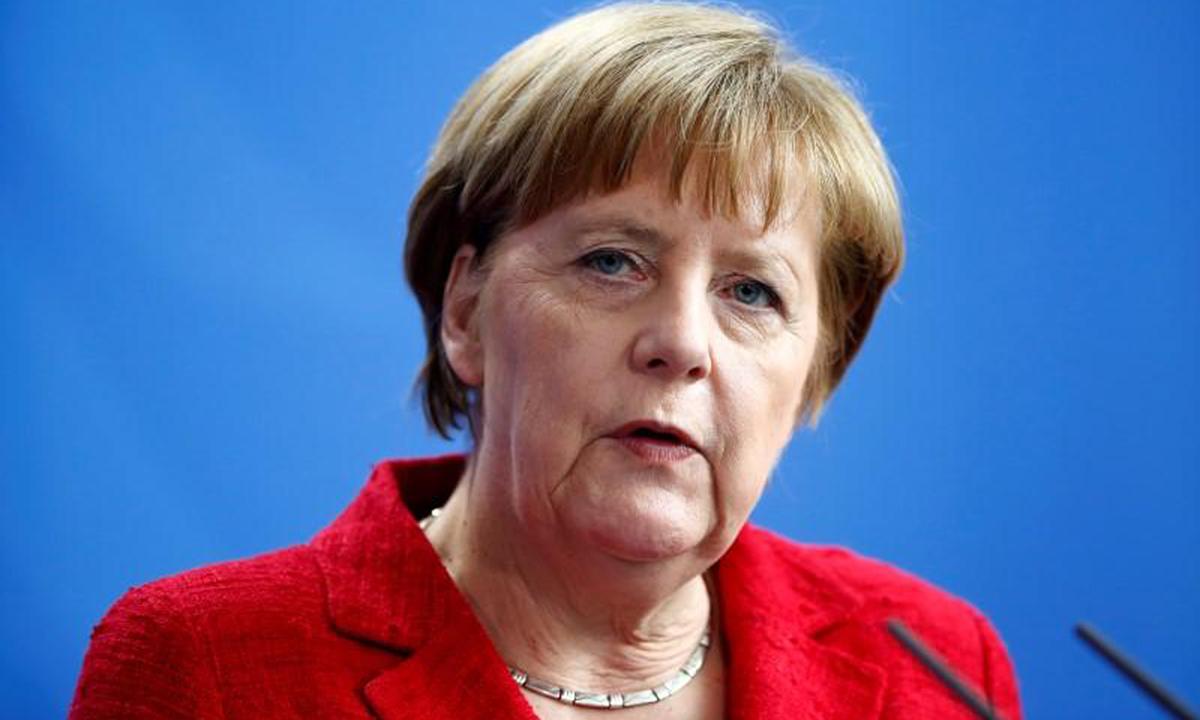 Thủ tướng Merkel tại một buổi họp báo ở Berlin, Đức ngày 6/4/2016. Ảnh: Reuters.