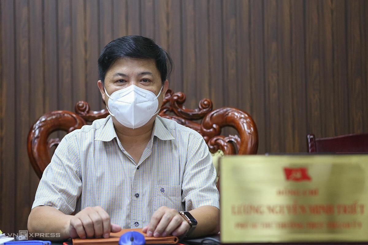 Ông Lương Nguyễn Minh Triết, Phó bí thư Thường trực Thành uỷ, Chủ tịch HĐND TP Đà Nẵng trả lời phỏng vấn VnExpress. Ảnh: Nguyễn Đông