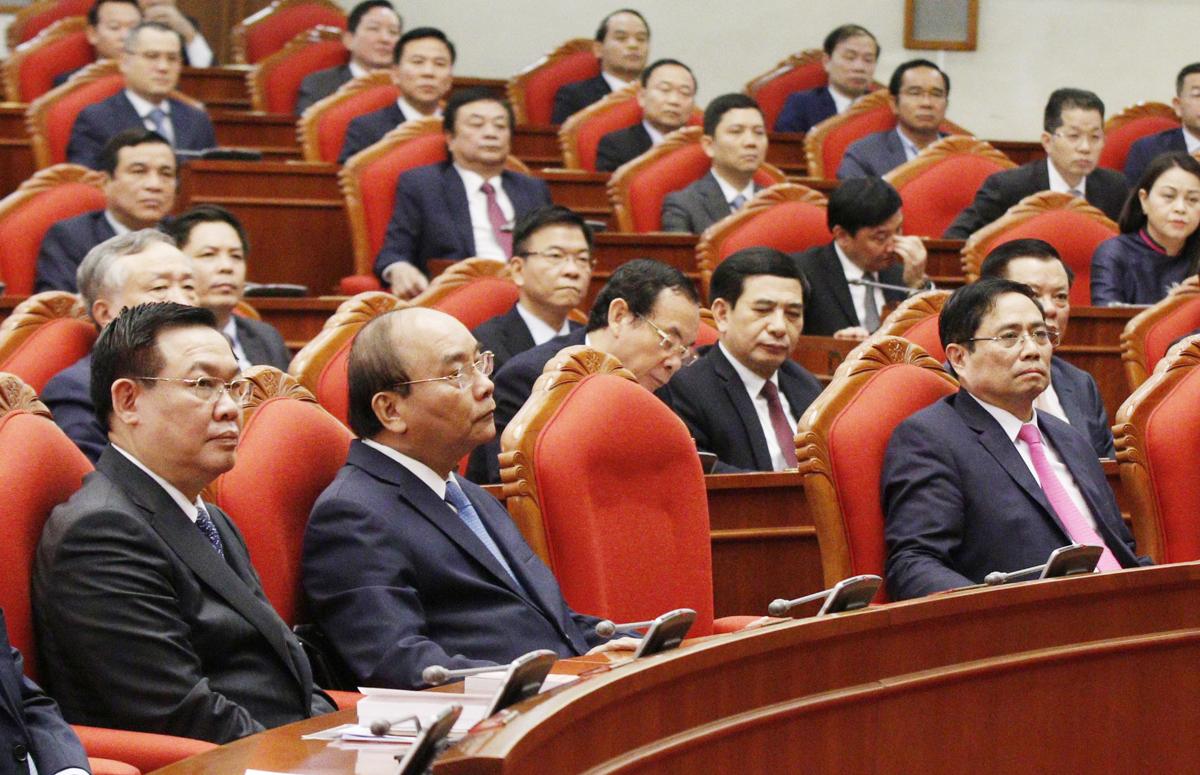 Các đại biểu dự hội nghị Trung ương 2 (khóa XIII), sáng 9/3. Ảnh: VGP