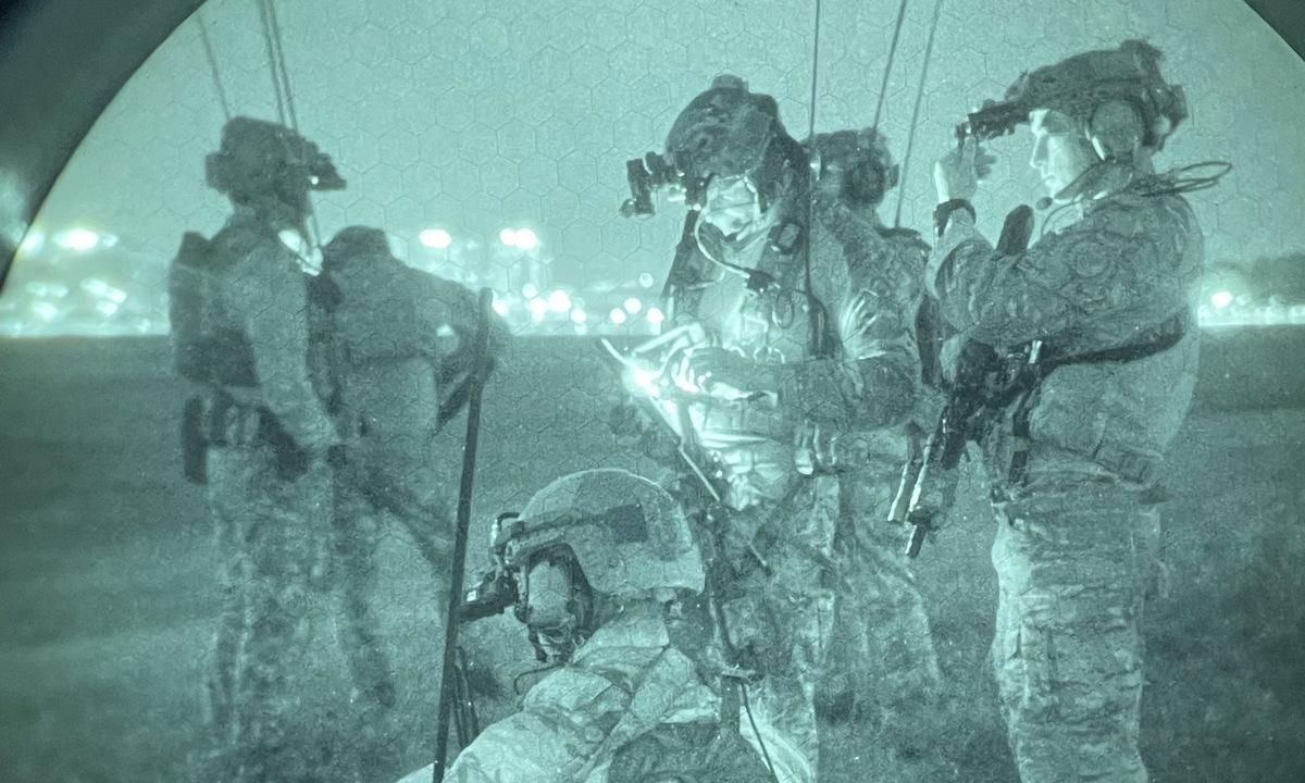 Đặc nhiệm Mỹ tham gia diễn tập Teak Knife hôm 13/9. Ảnh: SOCKOR.