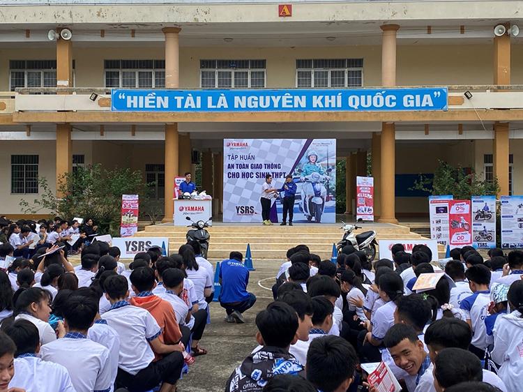 Một sự kiện tuyên truyền an toàn giao thông cho học sinh của Yamaha Motor Việt Nam.