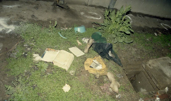 Nơi hung thủ vứt cặp, sách vở, quần áo và đồ dùng của nạn nhân. Ảnh: Nanjing jingcha