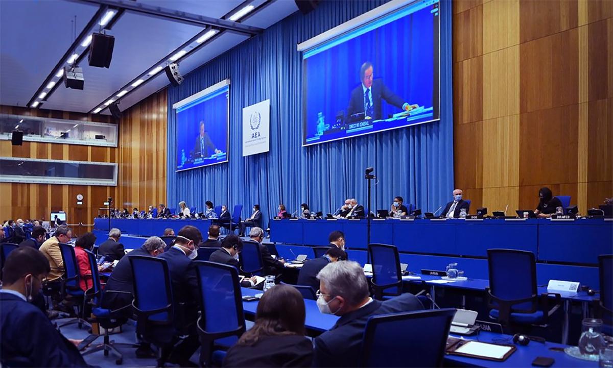 Đại diện IAEA, các nước thành viên và các tổ chức quốc tế trong phiên họp tại Vienna, Áo ngày 23/9. Ảnh: IAEA.