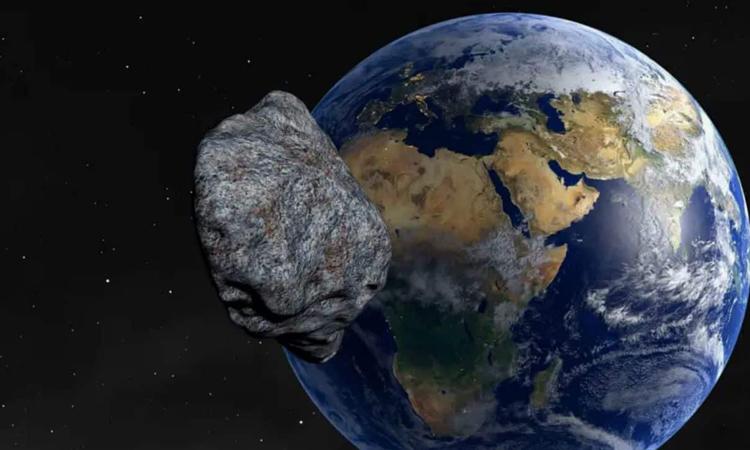 Mình họa một tiểu hành tinh đang tiếp cận Trái Đất. Ảnh: PIXABAY