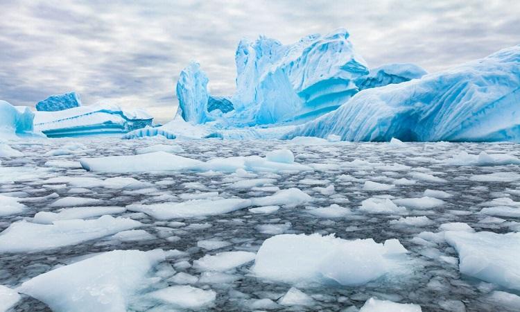 Những núi băng trôi màu xanh ở Nam Cực. Ảnh: iStock