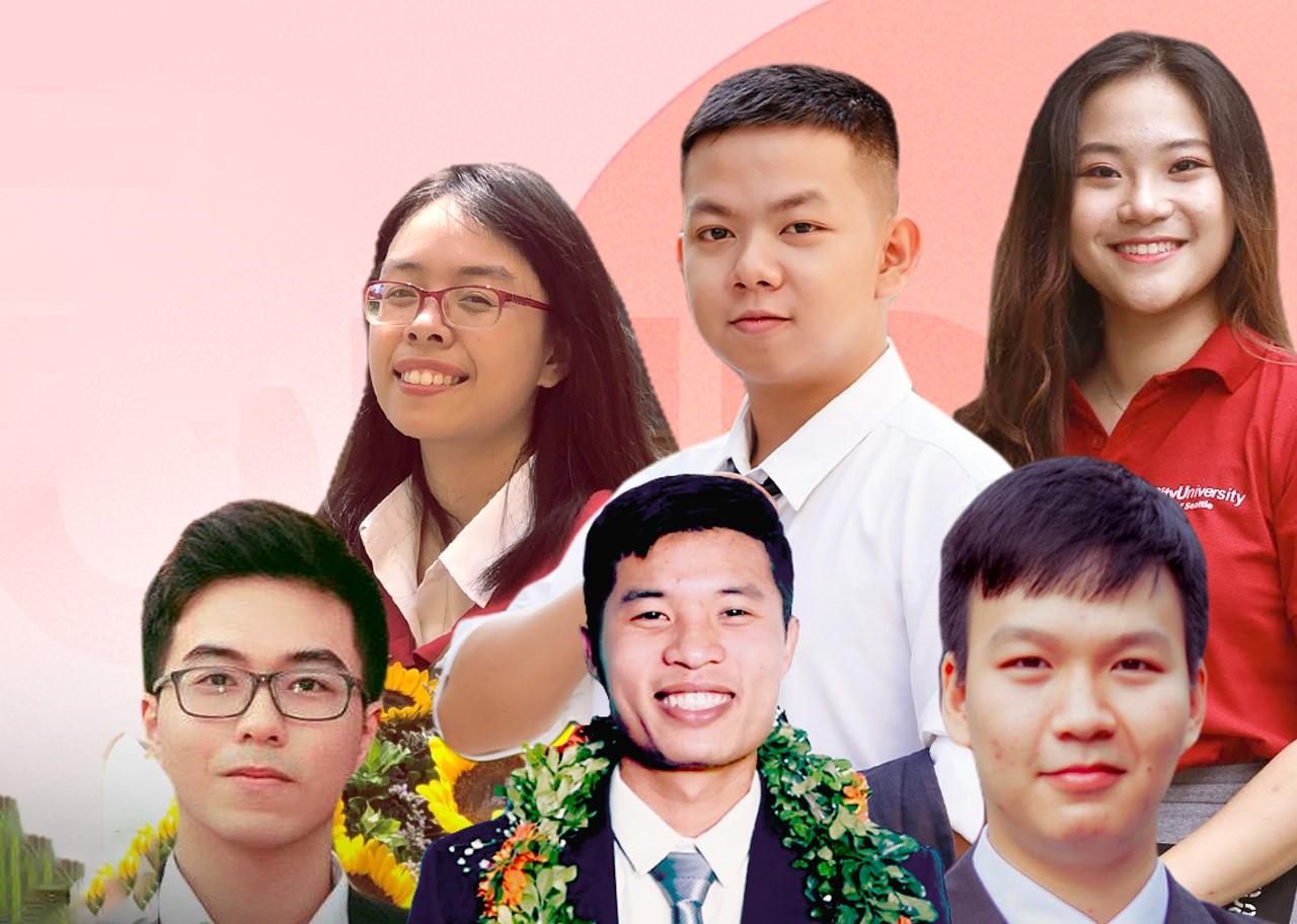Top 6 sinh viên nhận giải xuất sắc Học bổng Honda năm 2020. Ảnh: Honda.