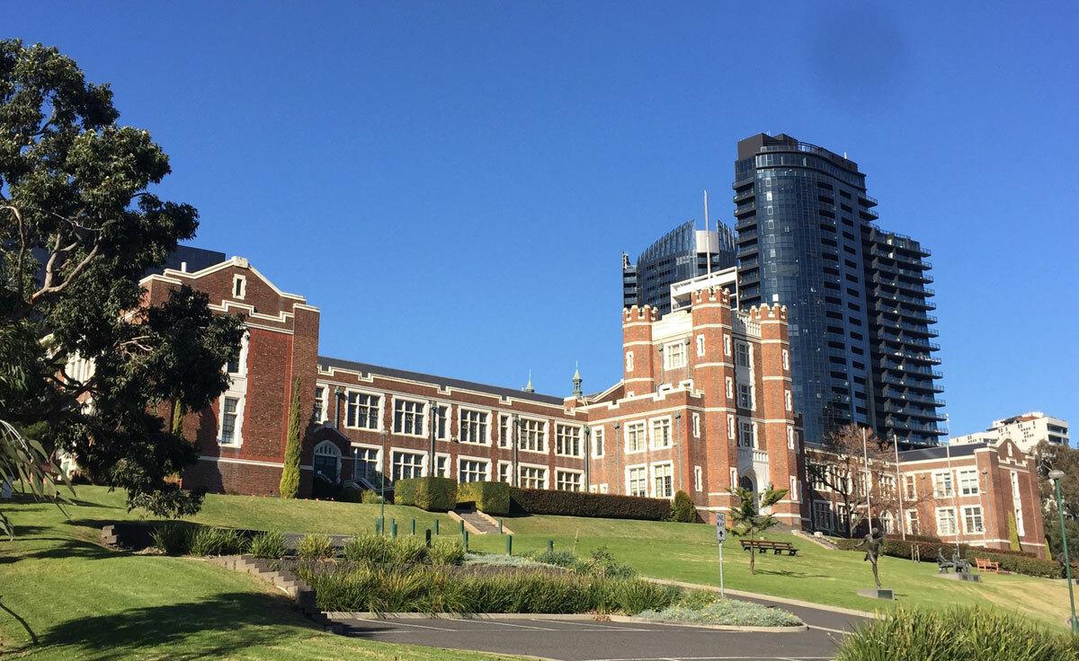 Trường trung học tuyển Melbourne High School. Ảnh: Thoại Giang