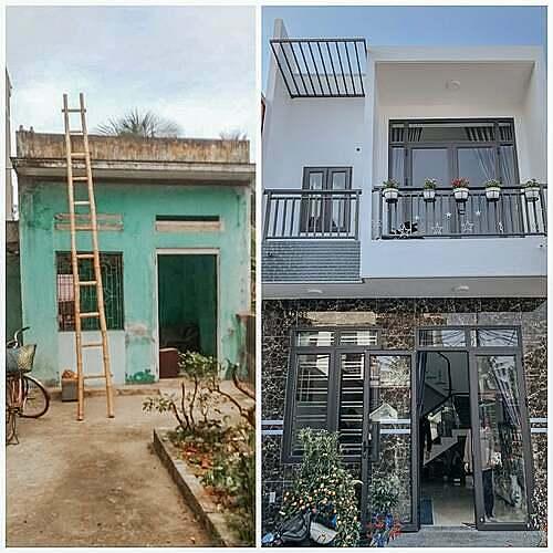 Ngôi nhà mới của gia đình tôi có diện tích 135m2, tổng tiền gồm nội thất khoảng 630 triệu đồng. Ảnh: Thuỳ Trang.