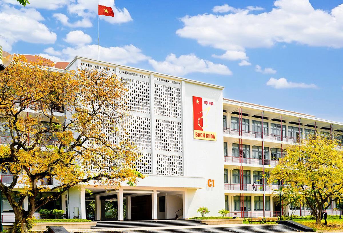 Toà nhà C1 Đại học Bách khoa Hà Nội. Ảnh: HUST