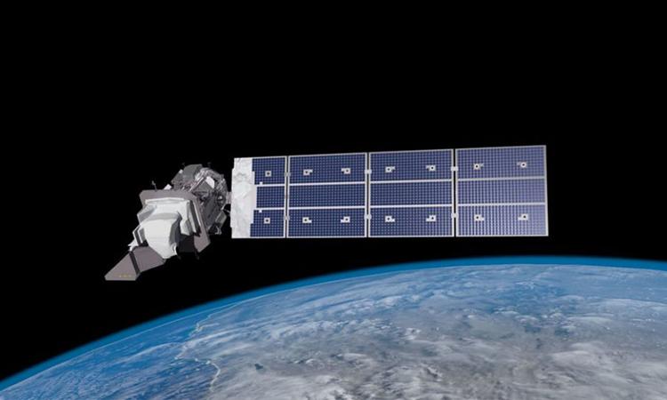 Mô phỏng vệ tinh Landsat 9 hoạt động trên quỹ đạo. Ảnh: NASA