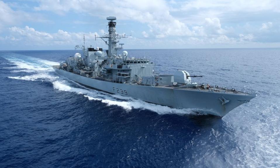 HMS Richmond làm nhiệm vụ tại biển Hoa Đông hồi đầu tháng 9. Ảnh: Royal Navy.