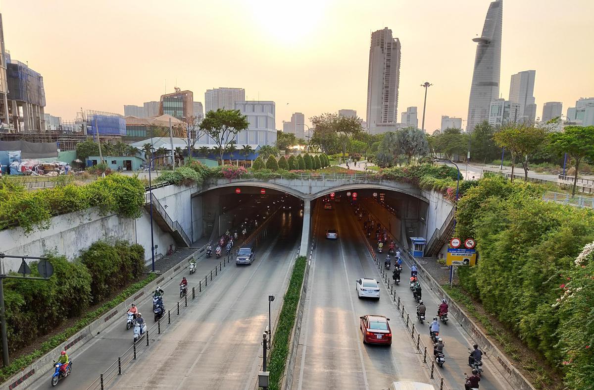 Hầm sông Sài Gòn, nơi được khôi phục lại hoạt động duy tu, bảo trì. Ảnh: Gia Minh