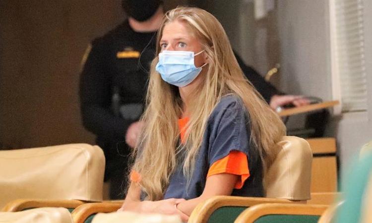 Alexandra Souverneva trong phiên tòa ở hạt Shasta hôm 24/9. Ảnh: USA Today