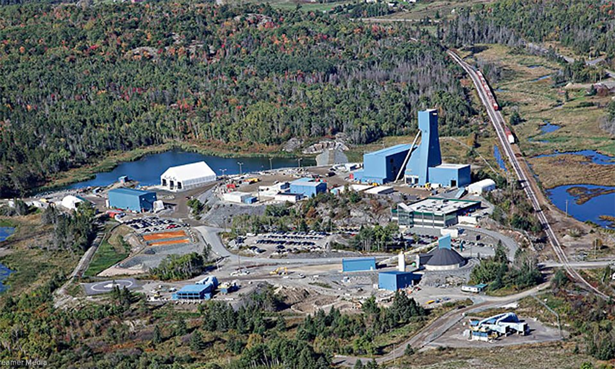 Mỏ khai thác kim loại Totten ở Sudbury, Ontario, Canada. Ảnh: Vale.