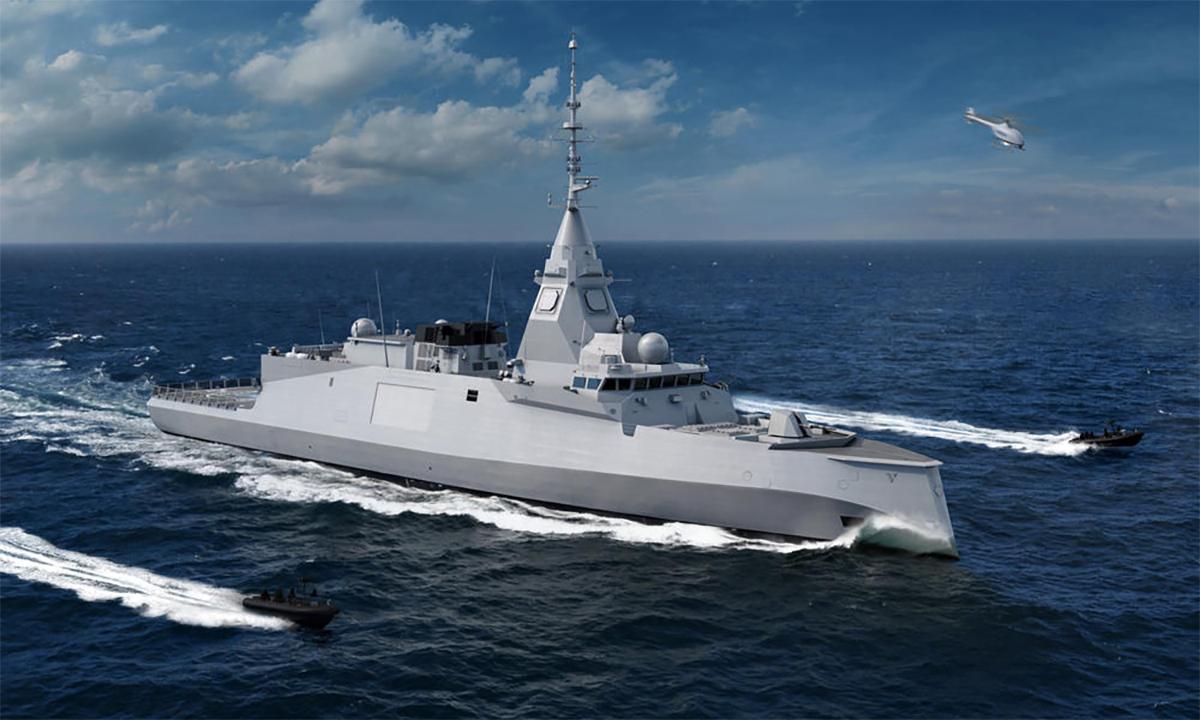 Phác thảo hộ vệ hạm lớp Belharra của Pháp. Đồ họa: Naval Group.