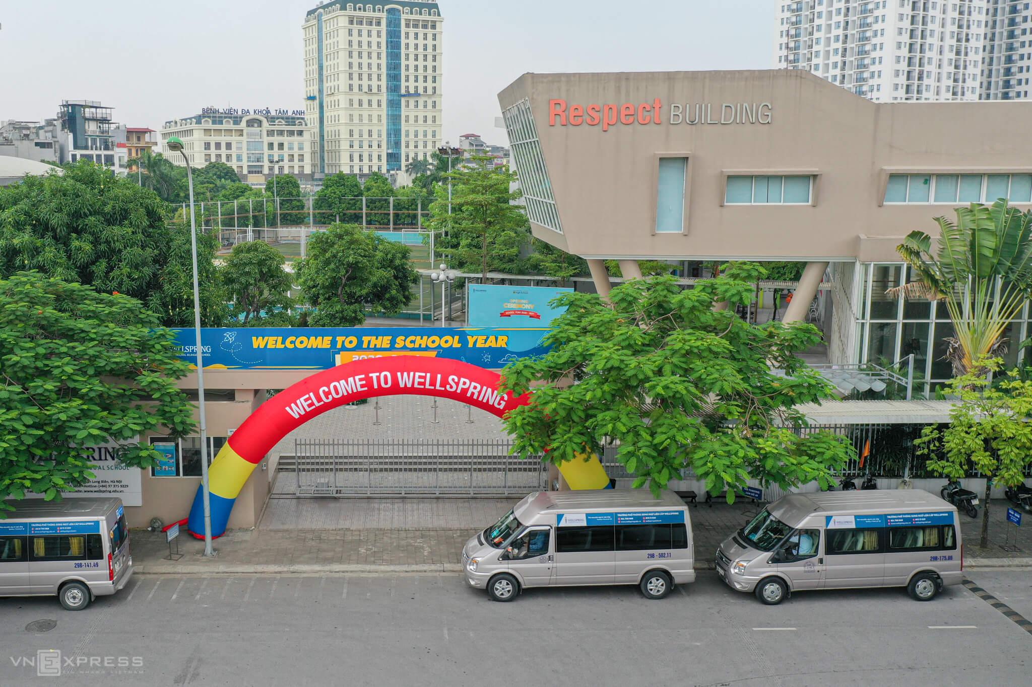 Trường Phổ thông Song ngữ Liên cấp Wellspring, quận Long Biên, Hà Nội. Ảnh: Ngọc Thành