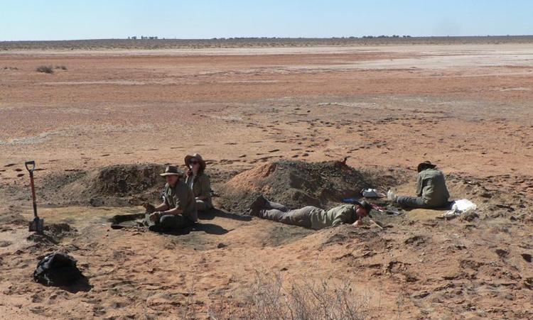 Địa điểm phát hiện hóa thạch. Ảnh: Đại học Flinders