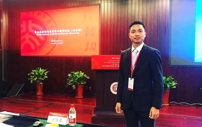 Toại tham dự Hội thảo Kinh tế tại Đại học Bắc Kinh năm 2019. Ảnh: Nhân vật cung cấp