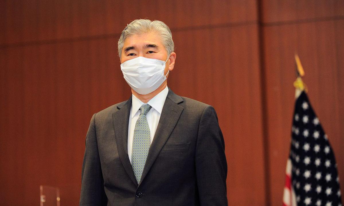 Đặc phái viên Sung Kim tại cuộc họp ba bên gồm Mỹ, Nhật Bản và Hàn Quốc tại Tokyo hôm 14/9. Ảnh: Reuters.