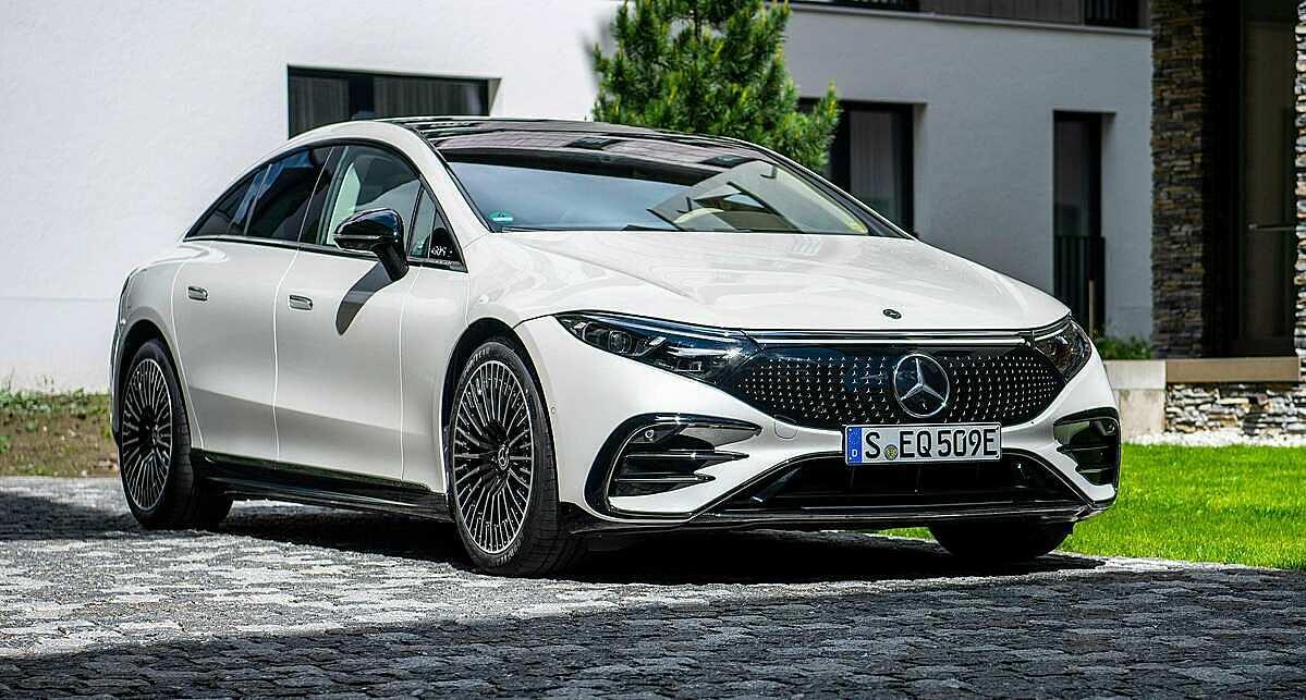 Một mẫu EQS tại Đức. Ảnh: Mercedes