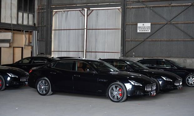 Dàn xe Maserati tại Port Moresby, Papua New Guinea, hồi tháng 11/2018. Ảnh: Reuters.
