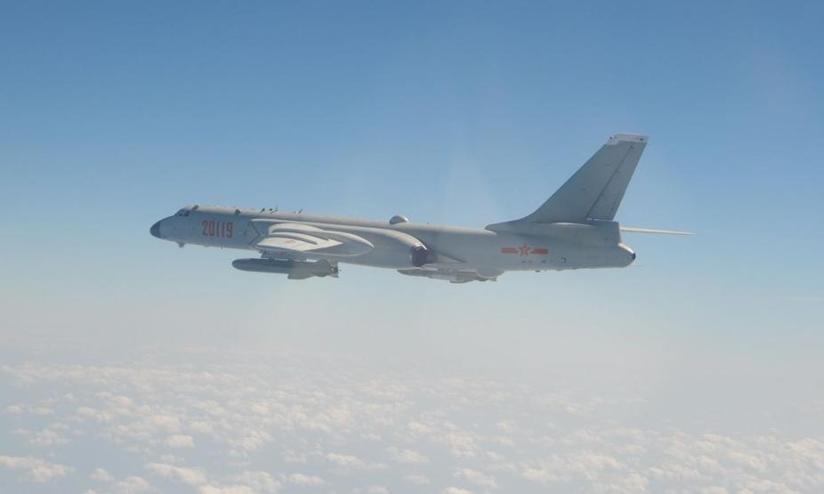 Oanh tạc cơ H-6 của quân đội Trung Quốc áp sát Đài Loan hồi năm 2020. Ảnh: Cơ quan phòng vệ Đài Loan.