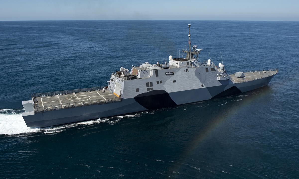 USS Freedom chạy thử ngoài khơi bang California hồi năm 2013. Ảnh: US Navy.