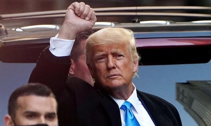 Cựu tổng thống Mỹ Donald Trump tại New York hồi tháng 3. Ảnh: Reuters.