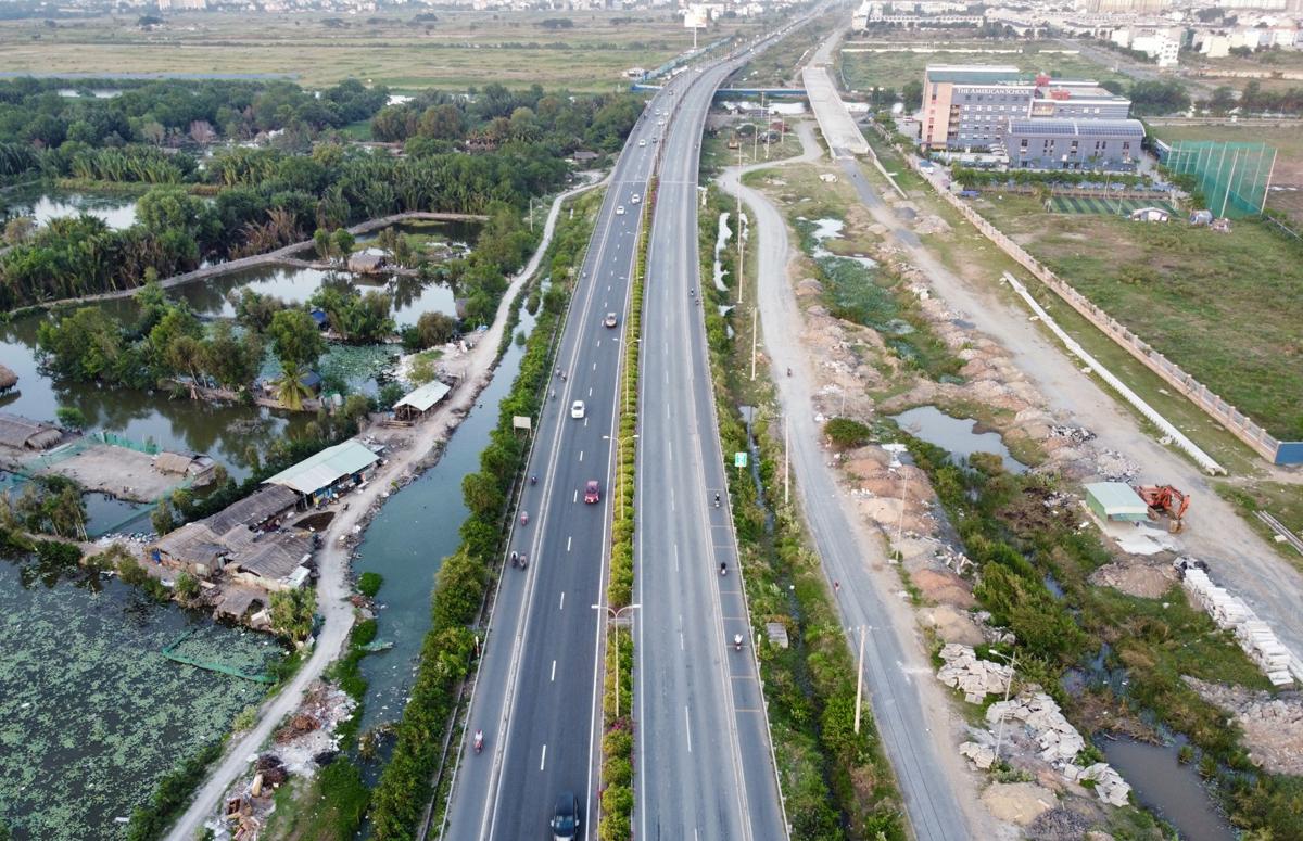 Cao tốc TP HCM - Long Thành - Dầu Giây hồi tháng 4/2021. Ảnh: Gia Minh