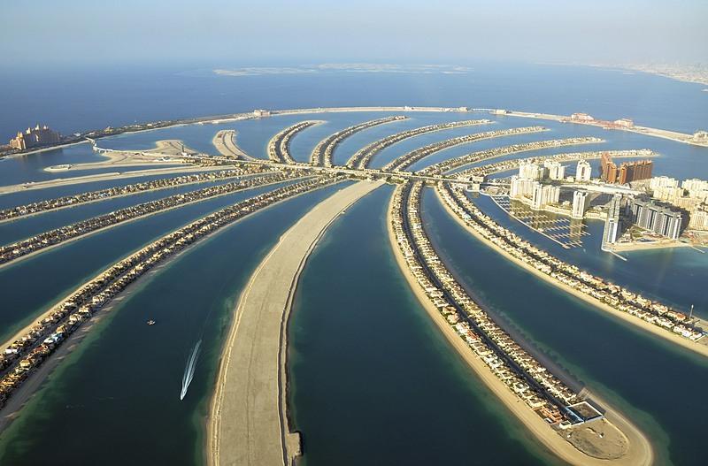 Toàn cảnh Palm Jumeirah, đảo nhân tạo lớn nhất thế giới ở Dubai. Ảnh: Reuters.