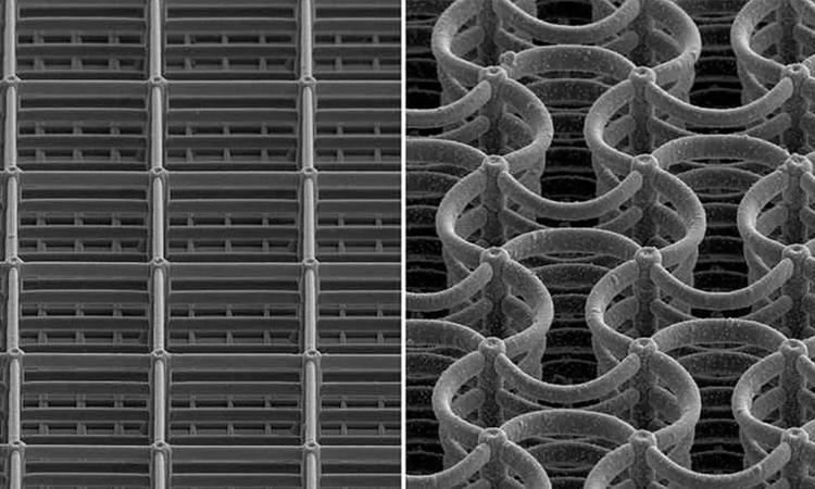 Cấu trúc của siêu vật liệu metamaterial do con người thiết kế. Ảnh: ETH Zurich/Dennis Kochmann Group
