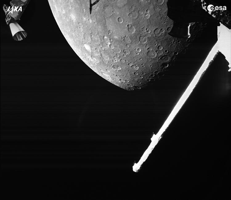 Tàu BepiColombo chụp ảnh cận cảnh sao Thủy. Ảnh: ESA