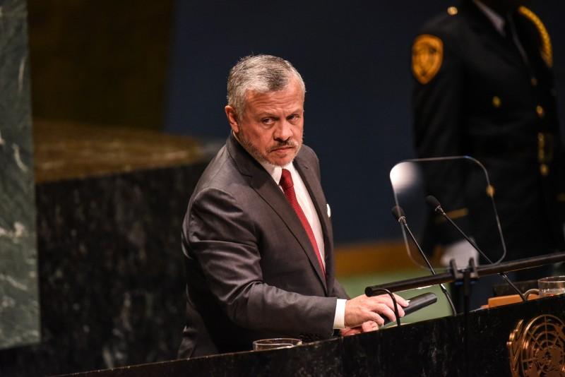 Vua Abdullah II của Jordan phát biểu tại Đại hội đồng Liên Hợp Quốc tháng trước. Ảnh: AFP.