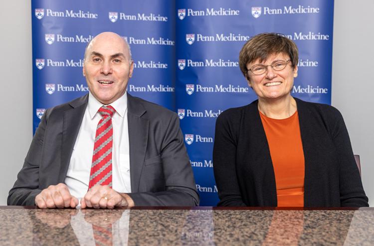 Drew Weissman (trái) và Katalin Karikó (phải). Ảnh: Penn Medicine