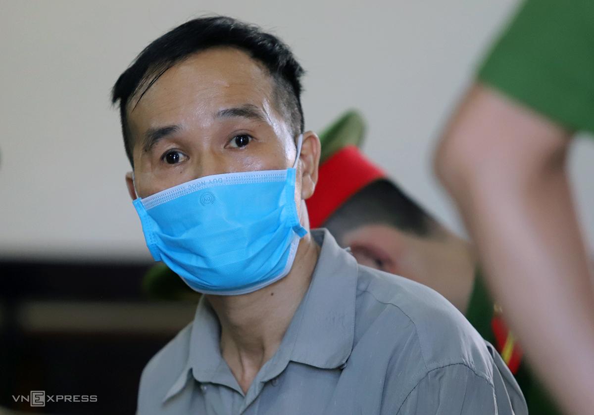 Bị cáo Lập tại phiên sơ thẩm tại TAND tỉnh Hà Tĩnh hồi cuối tháng 9. Ảnh: Đức Hùng