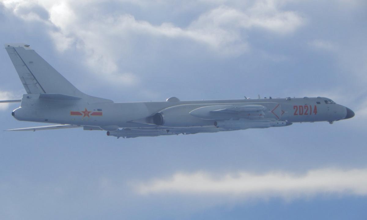 Oanh tạc cơ H-6 Trung Quốc áp sát Đài Loan hồi tháng 9/2020. Ảnh: Lực lượng phòng vệ Đài Loan.