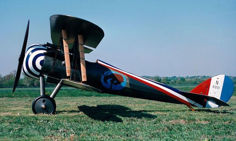Một chiếc Nieuport 28 được phục dựng sau chiến tranh. Ảnh: USAF.