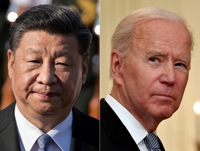 Chủ tịch Trung Quốc Tập Cận Bình (trái) và Tổng thống Mỹ Joe Biden. Ảnh: AFP.