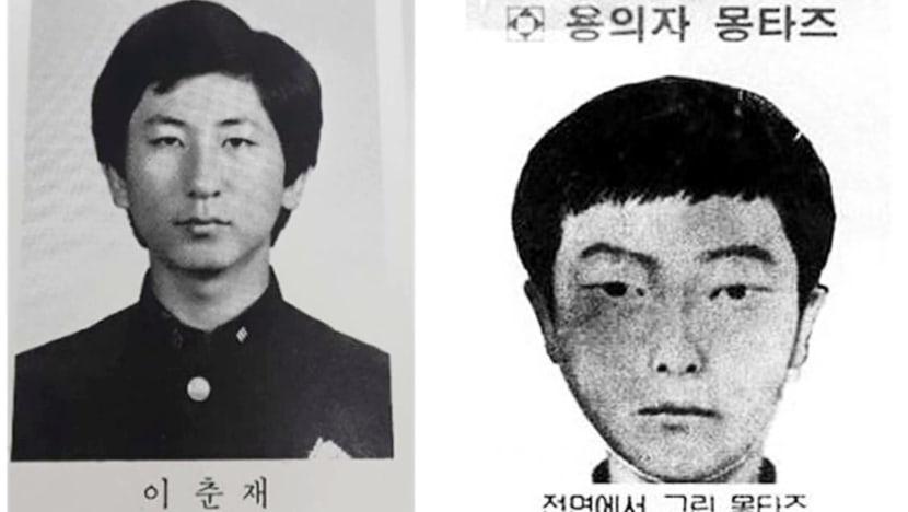 Lee Chun-Jae thời trẻ (trái) có nhiều nét giống với khuôn mặt nghi phạm được phác thảo năm 1986. Ảnh: CNA