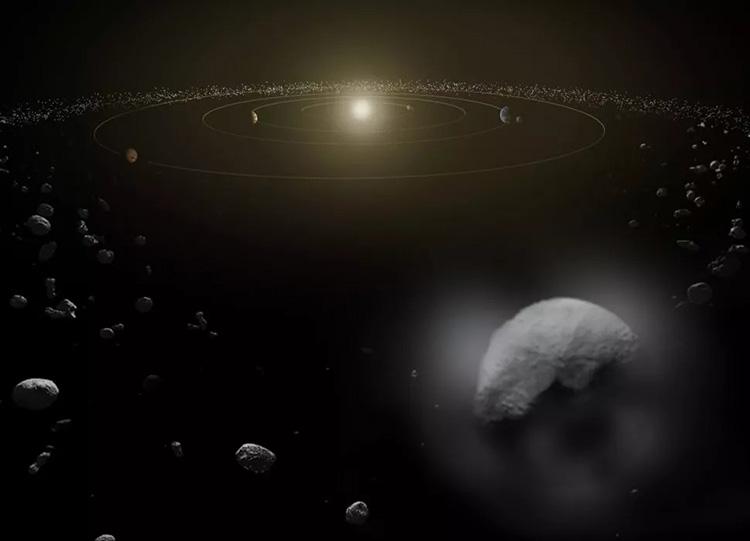 Mô phỏng vành đai tiểu hành tinh. Ảnh: ESA/ATG